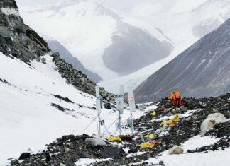 Huawei 5G Base station at 6500 meter