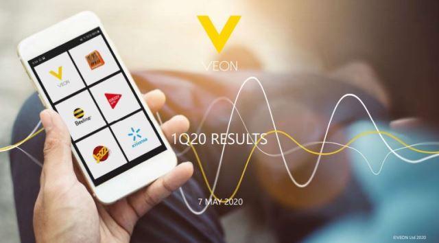 VEON revenue and Capex in Q1 2020