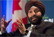 Canada Minister Navdeep Bains