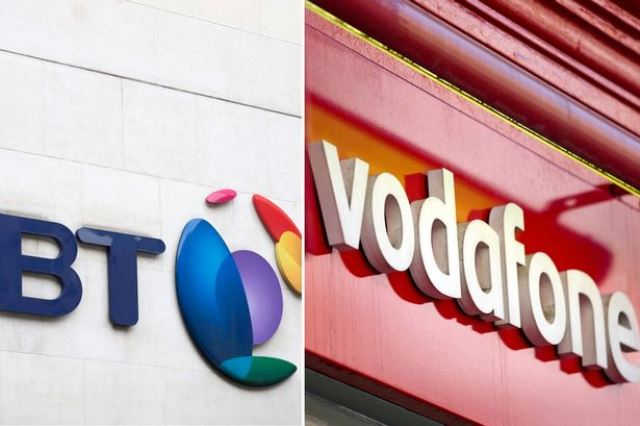 BT and Vodafone network