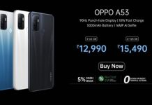 OPPO smartphone A53