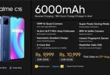 Realme C15 smartphone India