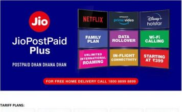 Jio post-paid plus