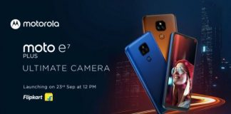 Moto E7 Plus smartphone price