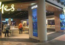 Optus retail store in Australia