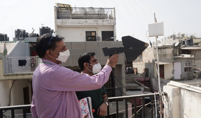 WMO officials removing illegal repeaters in New Delhi