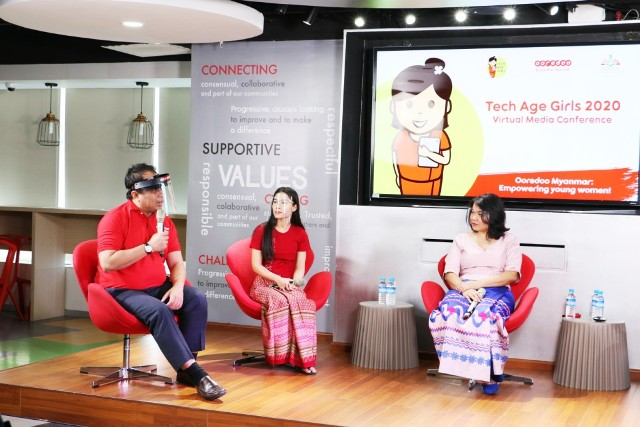 Ooredoo Myanmar Tech Age Girls program