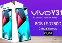 Vivo Y31 smartphone
