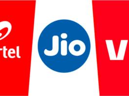 Airtel, Jio, Vi mobile network