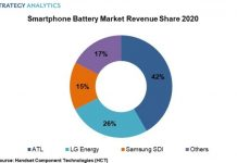 Smartphone battery market share 2020