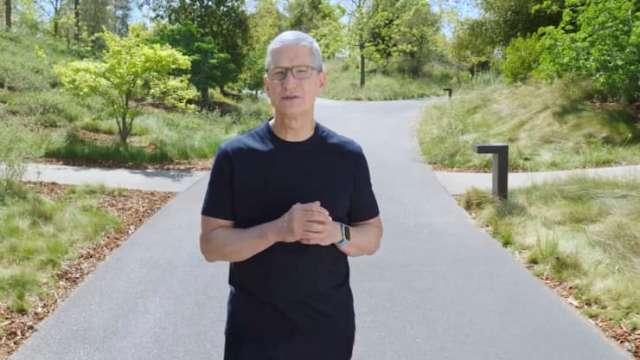 Apple CEO Tim Cook April 20, 2021 event