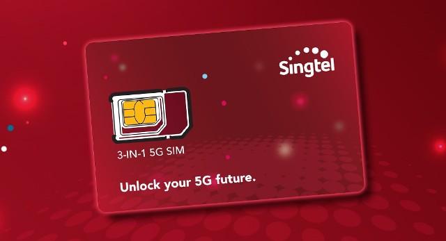 Singtel 5G SIM card in Singapore