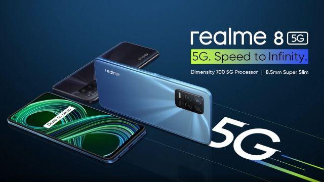 realme 8 5G smartphone in India