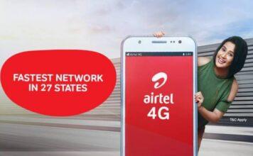 Airtel 4G network in 27 states