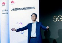 Huawei Carrier BG CMO Bob Cai at Huawei Better World Summit for 5G + AR